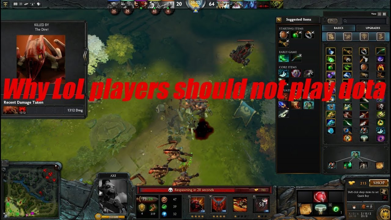 why lol players should not play dota 2 video youtube
