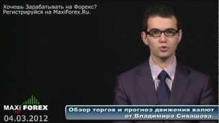 Прогноз на неделю 04.03.12 - Рынок Форекс (Forex) - MaxiForex - HD