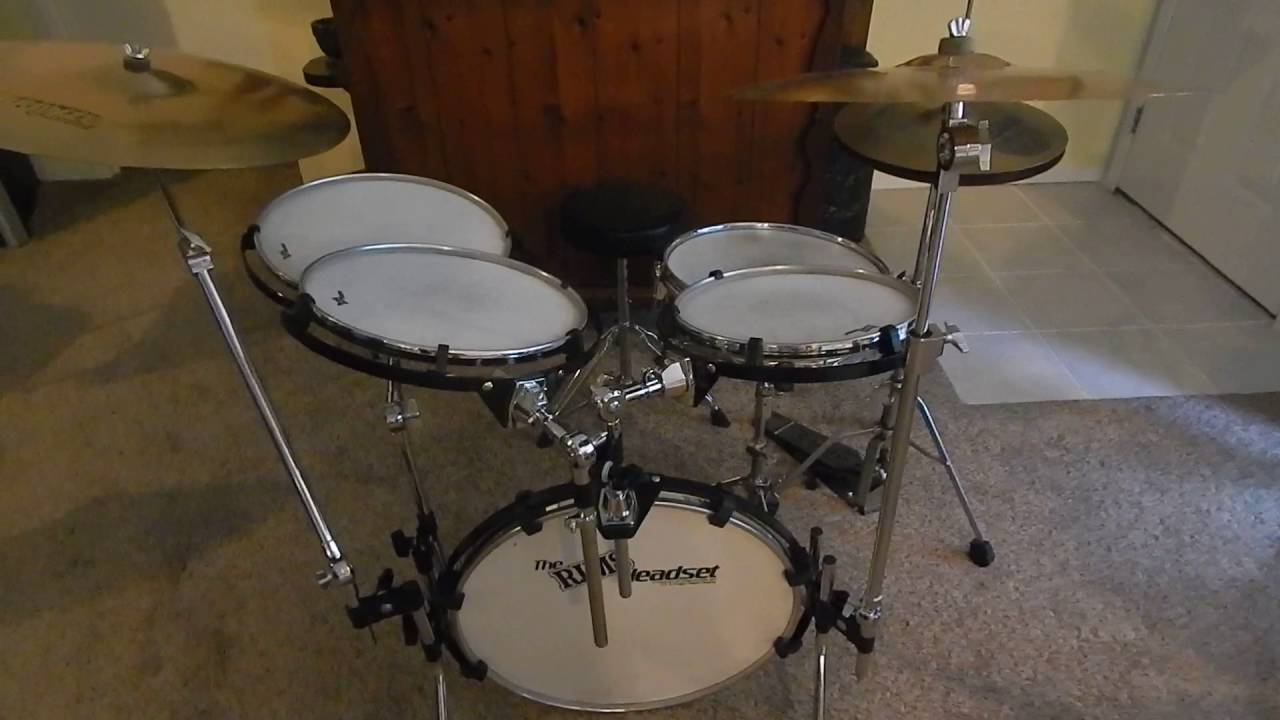 rims headset purecussion pre tuned heads drum set 1980 39 s kit youtube. Black Bedroom Furniture Sets. Home Design Ideas