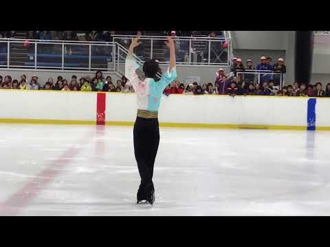 Hanyu performs at promotional event in Yokohama