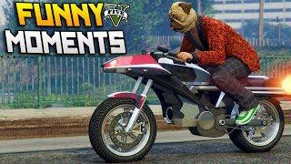 GTA 5 Gunrunner DLC Funny Moments - Bunker Tour & Rocket Bike!