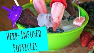 Herb-infused Popsicles: Blueberry Basil Ginger And Strawberry Lavender Lemon - La Cooquette