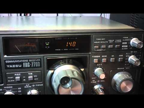 Yaesu FRG-7700 receiver walk through & lots of band scanning