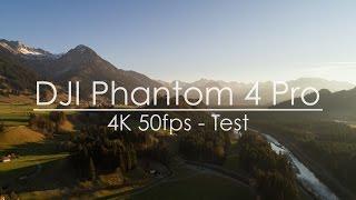 DJI Phantom 4 Pro 4K 50fps Test