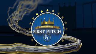 First pitch at the Royals vs Cardinals (1985 WS Losers) game