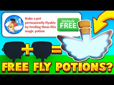 PLACE TO MAKE FREE FLYING POTIONS IN ADOPT ME? Trying Adopt Me Hack For Free Fly Potion thumbnail
