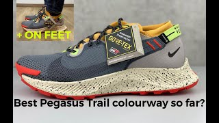 BEST NIKE PEGASUS 2 TRAIL COLOUR WAY? | UNBOXING & ON FEET | smoke grey/ black bucktan' | sneaker