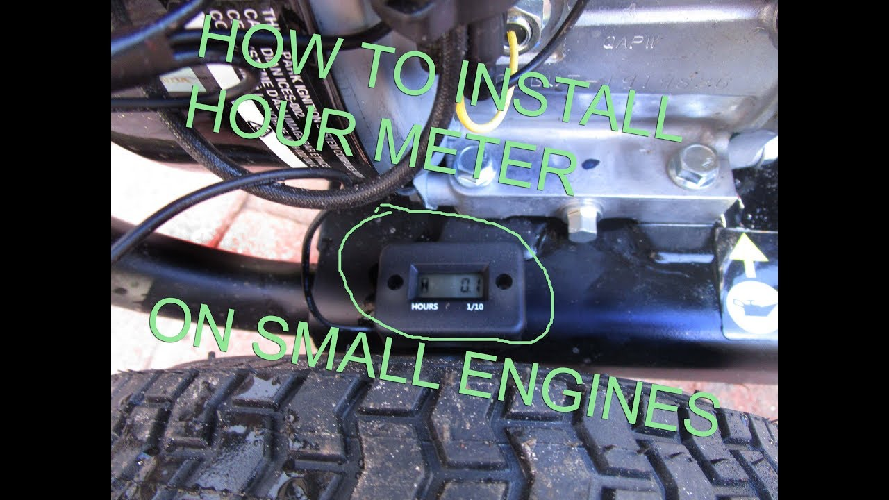How to install hour meter on small engine