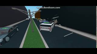 (ROBLOX) SUV Crashes Into Parked Cars