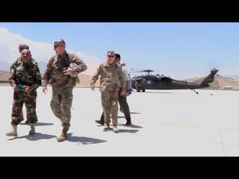 General Nicholson in Afghanistan summer 2017, B-roll
