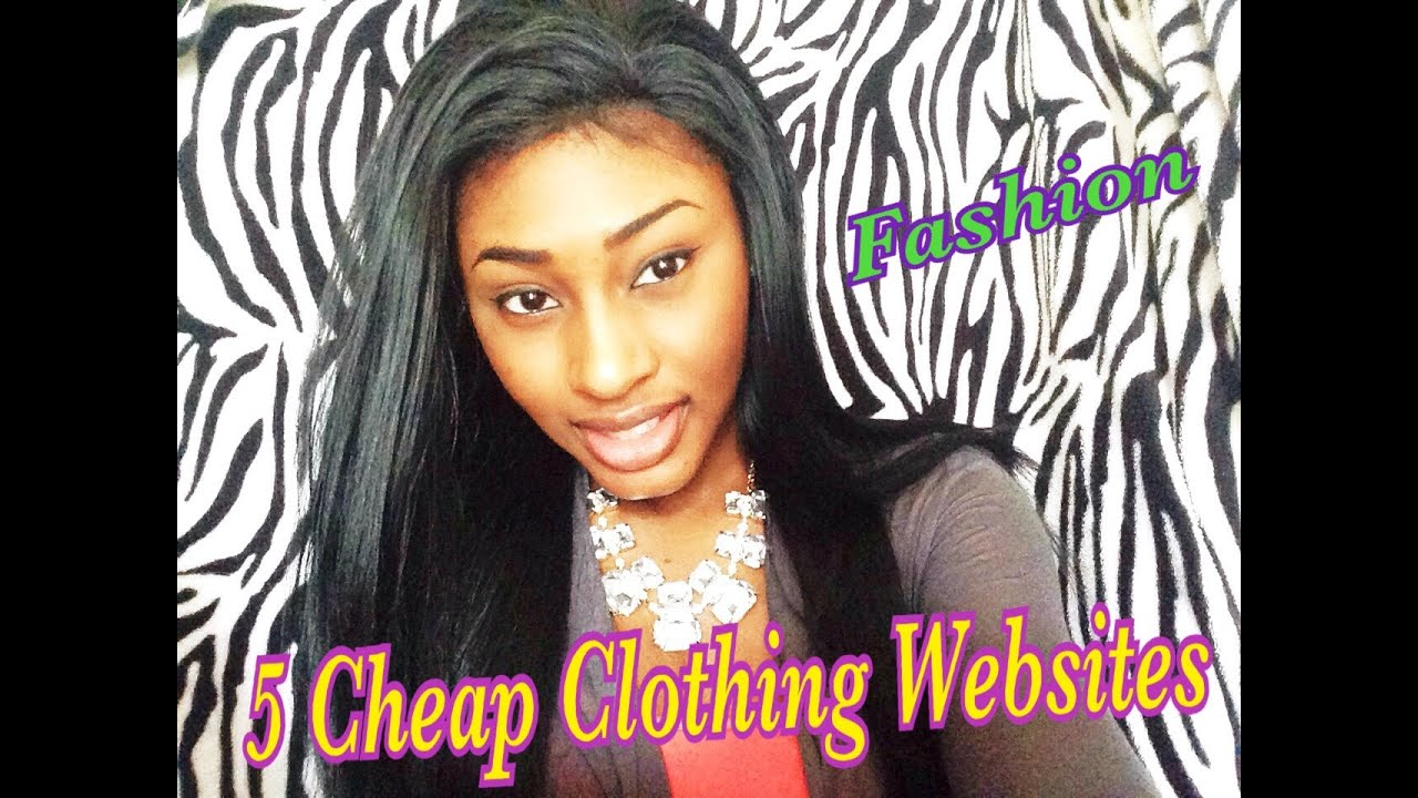 5 Cheap Clothing Websites - YouTube