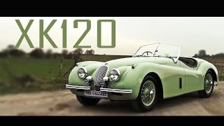 Jaguar Xk120 / XK 120 1953 - Test drive in top gear - Original interior - Engine sound