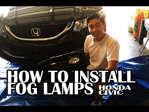 HOW TO INSTALL FOG LIGHTS ON A 2015 HONDA CIVIC | IN DETAIL