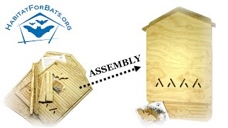 Single Chamber Bat House Kit Assembly Instructions - How To