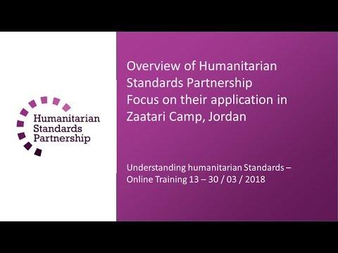 Understanding humanitarian standards  - Sphere   Session 2