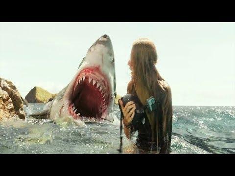 几分钟看美国经典科幻片《鲨滩》,一头鲨鱼和一个美女之间的故事