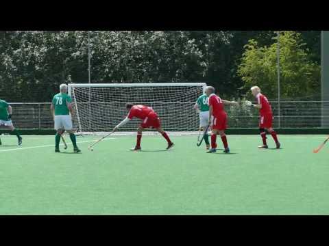 Ireland v England Mens over 65 hockey. Home Internationals Southgate 2016