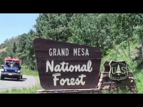 Boondocking Grand Mesa Campsite