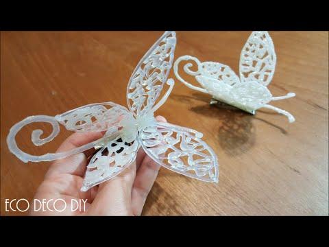 Hermosa libelula en 3d con silicona caliente para decorar - Manualidades con silicona ...