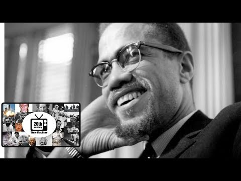 Malcolm X Interview Before Assassination. Original Footage, a 1966 Film.