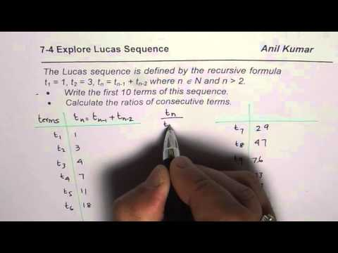 Terms of Lucas Sequence and Comparison with Fibonacci Sequence
