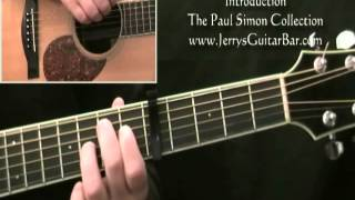 How To Play Paul Simon Still Crazy After All These Years Introduction on Guitar