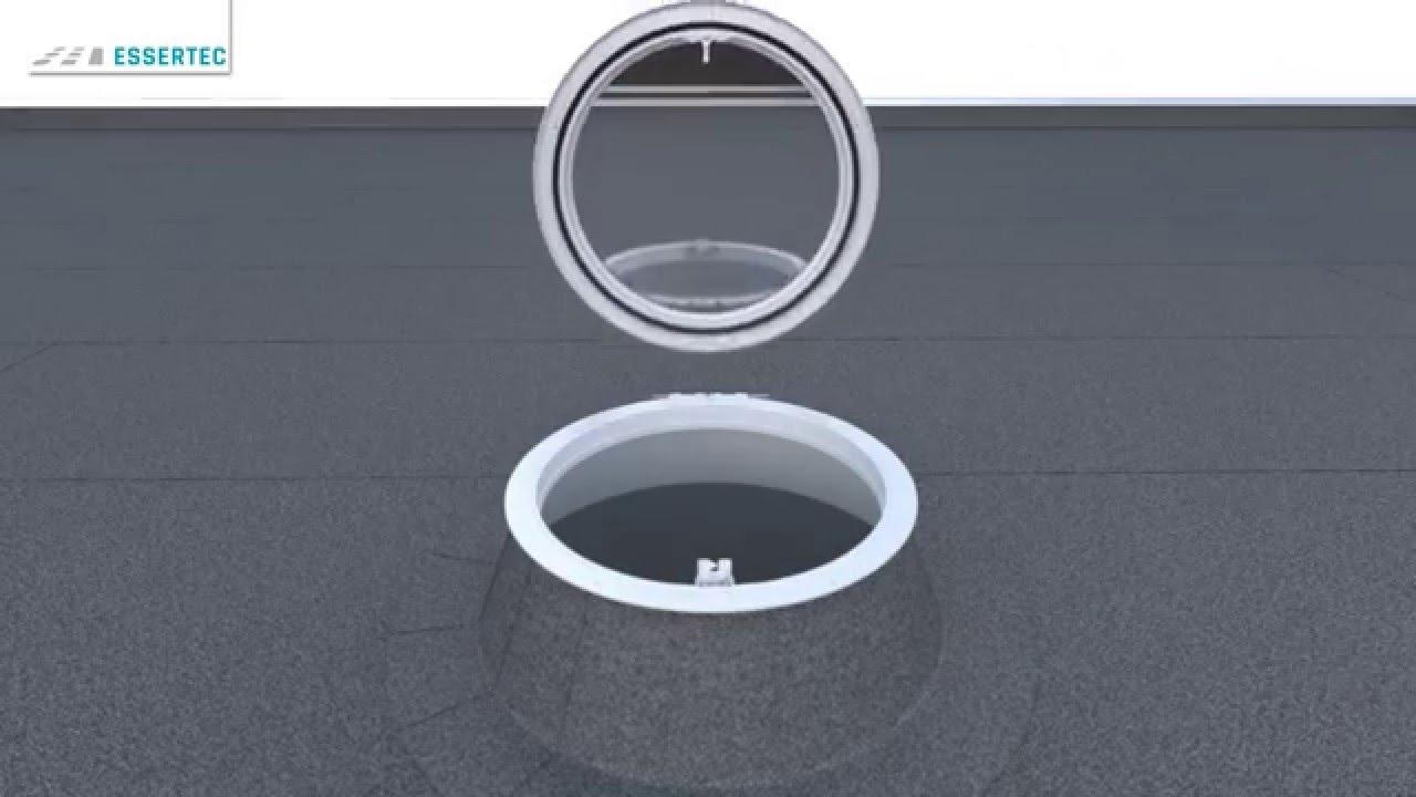Flachdachfenster rund  Anleitung: Lichtkuppeln / Flachdachfenster (rund) reparieren bzw ...