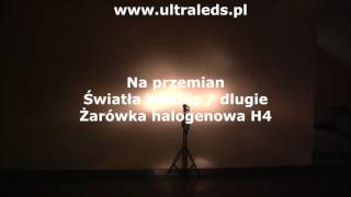Test żarówki LED  H4 4000LM Philips Luxeon ZES