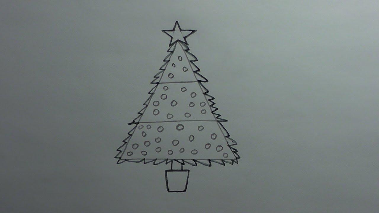 How to Draw a Christmas Tree - Kawaii - YouTube