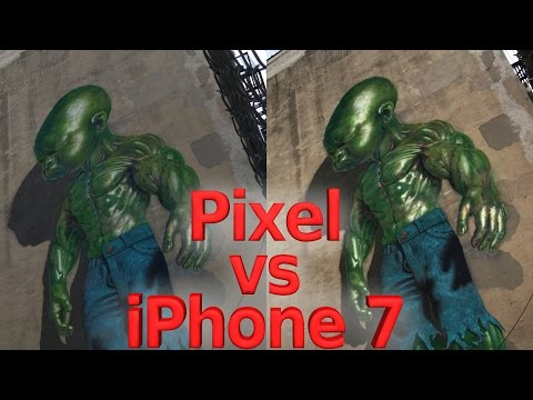 Google Pixel vs iPhone 7 Plus - EXTREME LOW LIGHT -Side by Side camera test