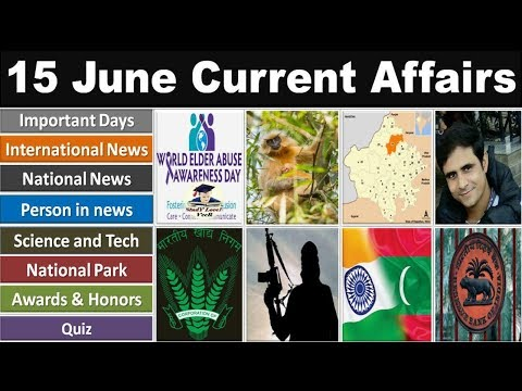 15 June 2019 PIB News, The Hindu, Indian Express - Current Affairs In Hindi, Nano Magazine By VeeR