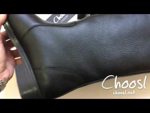 Жокейские сапоги из натуральной кожи флотар, черного цвета  — Choosl