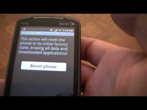 How To Restore An HTC Hero Android Smart Phone To Factory Settings