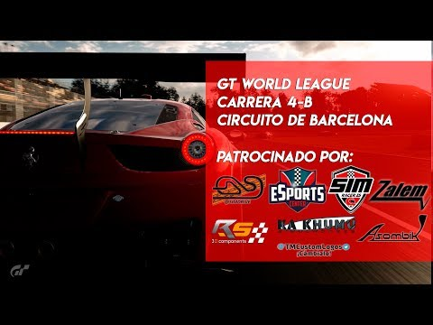 🏆 GT WORLD LEAGUE 🏆 Carrera 4 - B  | Circuito de Barcelona | Gran Turismo Sport PS4🔴 thumbnail