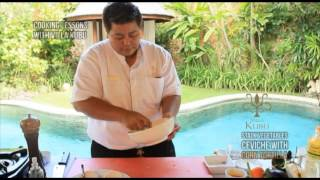 Cooking Lessons with Villa Kubu - Stalk Vegetables Ceviche with Corn Tortilla