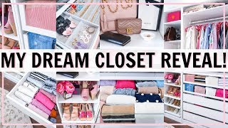 MY DREAM CLOSET TOUR! ULTIMATE CLOSET ORGANIZATION IDEAS! BEFORE AND AFTER | Alexandra Beuter