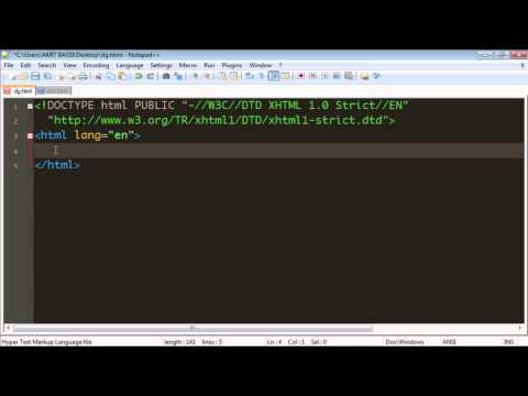 Html 5 Tutorial - 03 - Doctypes.mp4
