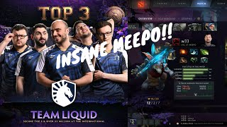 liquid.w33.haa Meepo Player's Perspective Gameplay - TI9 Liquid vs Secret Lower Bracket Elimination