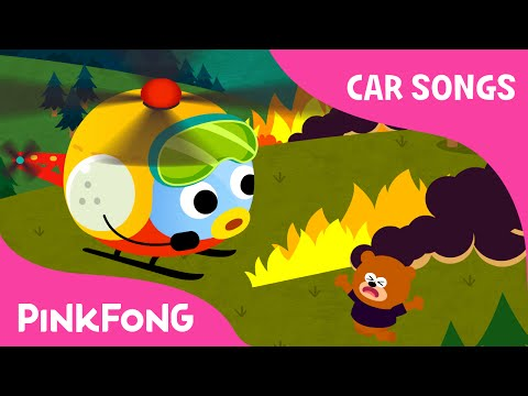 Helicopter | Car Songs | PINKFONG Songs for Children