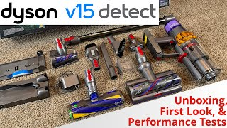 Dyson V15 Detect | Unboxing, First Look, & Performance Tests