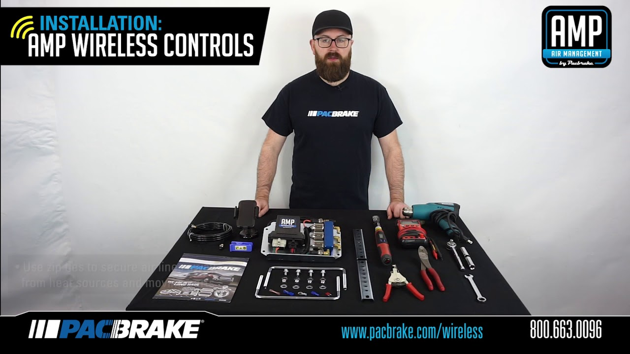 Amp Wireless Air Spring Controls Kit Install Youtube Pacbrake Wiring Company