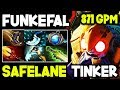 FuN^KeFaL - Safe Lane Carry Tinker With 871 GPM He Is F***ing Awesome 7.18 Dota 2