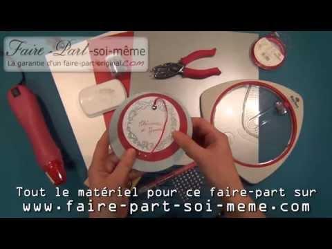 Faire Part De Mariage Rond Rouge Et Argent Youtube