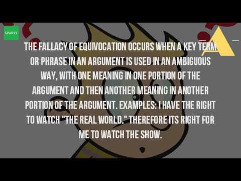 What Is The Fallacy Of Equivocation Youtube