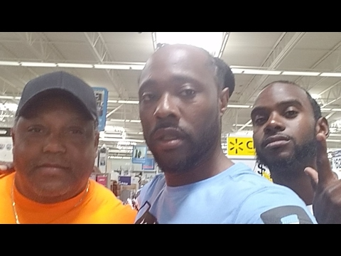 """kNOw CASH, Chris, & POPS inside of Wal-Mart in MIAMI Florida!!!!"""