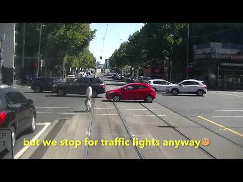 Driver's View Melbourne Tram  30. Latrobe St & Docklands