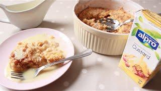 Quick Easy Vegan Apple Crumble with Custard Recipe