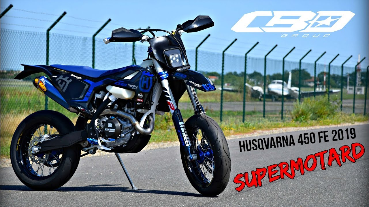 husqvarna 450 fe 2019 supermoto by cbo youtube. Black Bedroom Furniture Sets. Home Design Ideas