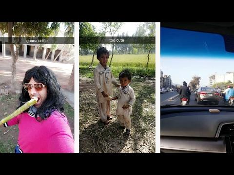 Nasreen having fun in Lahore   Snapchat Videos   24/03/17