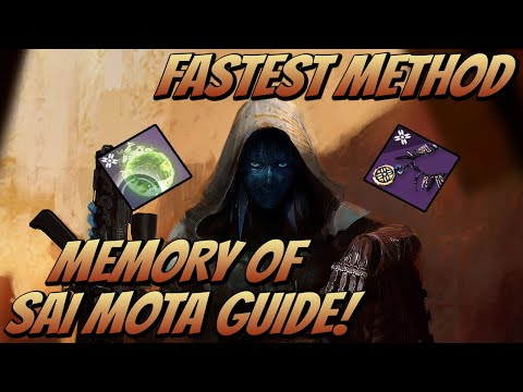 Memory Of Sai Mota Guide! Fastest Method (Destiny 2 Shadowkeep)